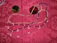 ID/Key Holder Necklace 25.00 and crystal Necklace and