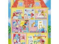 This precious dollhouse mural will make the perfect