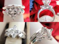 This is a 1.45CT Leo Princess Diamond Engagement