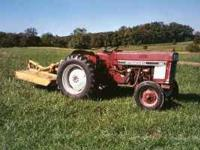 International 384 diesel tractor with 5 foot (3pt)