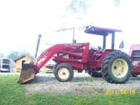 IH 684 WITH 2250 LOADER REBUILD ENGINE 1000 HRS AGO NEW