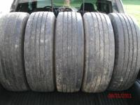 I HAVE 5 NICE GOODYEAR G670 RV 245/70R 19.5 TIRES THEY