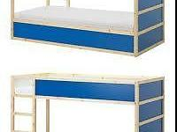 Up for sale is an IKEA KURA Reversible bed, white pine,