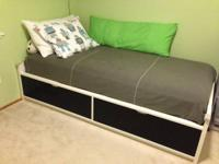 Ikea odda bed frame with storage. Condition like new.
