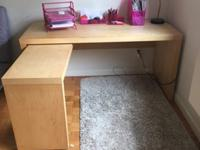 This is a gorgeous IKEA office desk! It's about 15