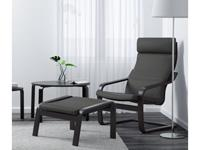 Ikea Poang chair with black-brown frame and Finnsta