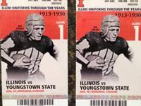 I have 2 (2) tickets to the Illinois vs Youngstown St.