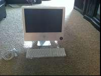 "2004 White iMac with 20"" display. Has ethernet port,"
