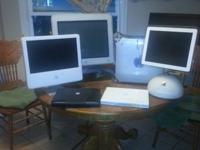 All should go: Imacs and Macbooks. All in great