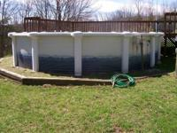 21 foot Image Round above ground pool w/liner Liner is