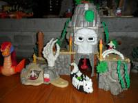 Imaginext Phantom Island with exploding volcano and