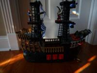 Fisher Price Imaginext Pirate ship.  Comes with two
