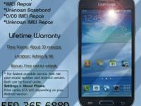 Repair service for black listed IMEI ESN Samsung Galaxy