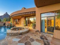 Impeccable detail and finishes include travertine,