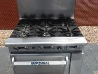 IMPERIAL GAS SIX BURNER STOVE WITH OVEN*NATURAL GAS3