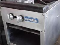 Selling a used Imperial gas stock pot range. If