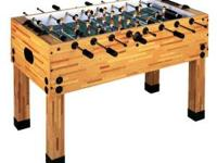 This foosball table is new, still in the box. Bought it