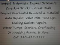 Import & Domestic Engine Overhauls - Auto Repairs ~