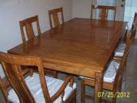 Imported exoctic rosewood dinnette table matching