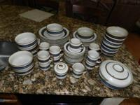 Handcrafted imported Horizon Stoneware - 60-piece