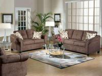 980 Microfiber Chocolate Sofa Set. Stain resistant