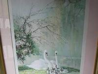 Framed Impressionistic Print Triple-matted in
