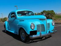 Impressive 1940 Plymouth Deluxe 2 Door Coupe with blue