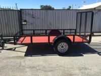 2017 UTILITY 5x10 TRAILER Details: 4' ramp Single axle