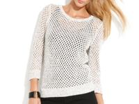 INC's fishnet sweater offers a flirty flash of skin and