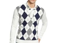 Pair this argyle sweater from INC International