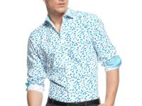 For on-point style, don this dotted shirt by INC
