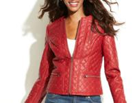 INC's quilted and studded faux leather jacket blends