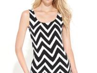 The bold chevron stripes create a graphic look atop