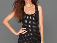 Edgy studs update INC's smooth, chic tank top for a