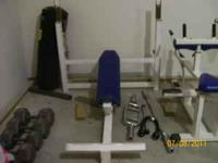 Incline Bench Flat Bench & 310lb olympic weight set