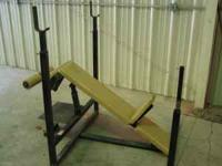 H D excellent condition incline -decline weight lifting
