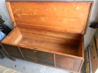 Incredible Hand Crafted Vintage Cedar Hope Chest.