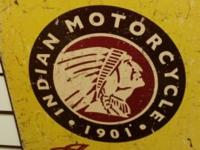 Indian Motorcycles Vintage look Tin Metal Sign.