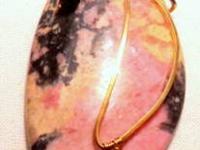 $18.90 Rhodonite - Pink with Black random pattern When