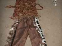 This is a handmade Indian Costume for either a boy or a