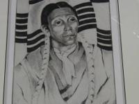 """Indian Singer"" Gene Kloss, Santa Fe artist. Etching,"