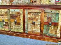 This exotic looking teak wood cabinet came from Jodhpur