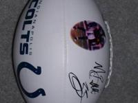 For Sale: Indianapolis Colts laser autographed, policy