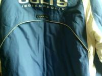 Offering an Indianapolis Colts Winter Sideline Jacket.