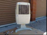 Indoor portal evap cooler and wind tunnel fan. $50 for