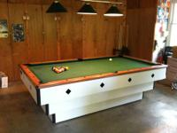 8' Indoor/Outdoor Pool Table - Murrey Outdoor 5000.