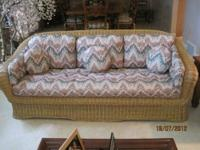 An excellent condition Karedsen customed covered Wicker