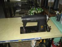 Singer industrial sewing machine light to medium
