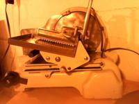 INDUSTRIAL MEAT SLICER, $400.00. Call in evenings,