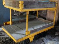 Industrial Parts Cart with 2 levels. It is on four